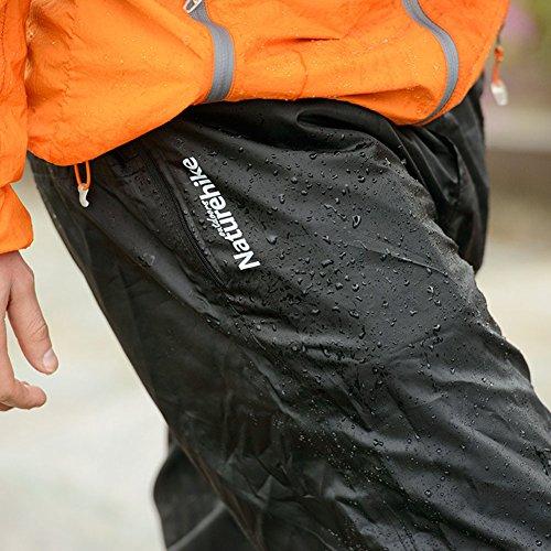 アウトドア スポーツ 登山 ランニング 折りたたみ式 自体収納 男女兼用 軽量防水 レインパンツ