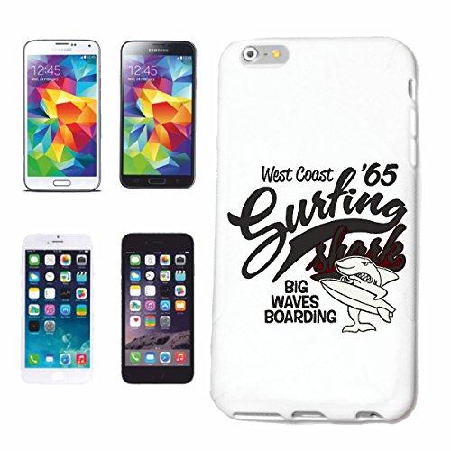 "cas de téléphone iPhone 7+ Plus ""WEST COAST SURFING SHARK SHARK BIG WAVES EMBARQUEMENT SURFING BEACH SURFBOARDS LONGBOARD ONDES SURF Beginner Shop"" Hard Case Cover Téléphone Covers Smart Cover pour Ap"