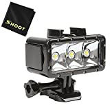 Photo : SHOOT Waterproof 30m Diving Light High Power Dimmable LED Underwater Fill Light for GoPro Hero 6/5/5S/4/4S/3+,Campark AKASO DBPOWER Crosstour SHOOT Camera with 1200mAh Built-in Rechargeable Battery