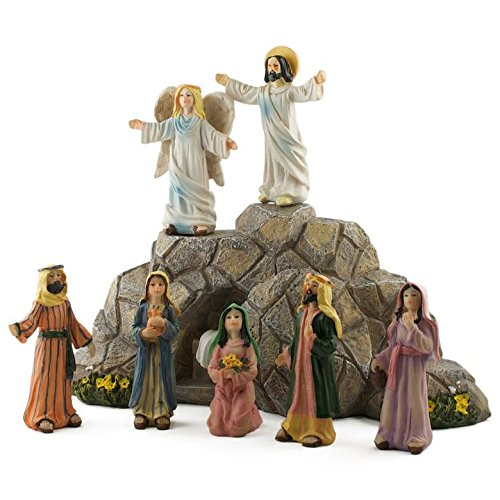 BestPysanky Jesus Resurrection Scene Figurines 11 Inches