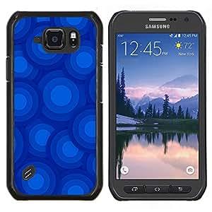 SKCASE Center / Funda Carcasa protectora - Círculos azules Patrón - Samsung Galaxy S6 Active G890A