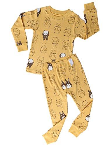 unifriend-little-boys-girls-2-piece-pajama-settotoro-yellow-us-45y-asia-120-kgsr014