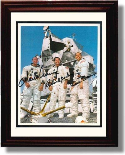 Framed Charles Conrad, Jr, Richard F. Gordon Jr, Alan L. Bean Autograph Replica Print - Apollo 12 Team Members (Autograph Alan Bean)
