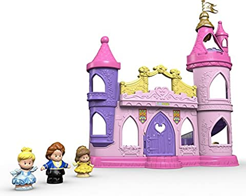 Fisher-Price Little People Disney Princess Musical Dancing Palace (Belle And The Beast Little People)