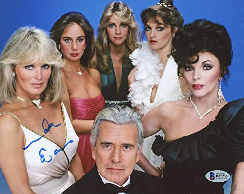 LINDA EVANS SIGNED DYNASTY SHOW TV CAST 8x10 PROMO PHOTO w/BECKETT COA