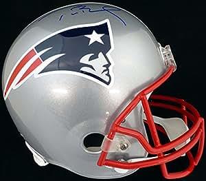 Tom Brady Autographed New England Patriots Full Size Replica Helmet - TriStar COA
