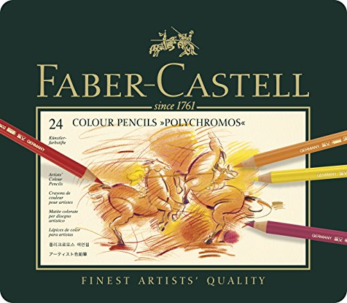 Faber-Castel 24 Piece Polychromous Colored Pencil Set In Metal Tin