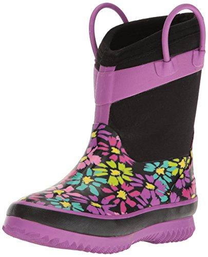 Western Chief Girls' Neoprene Snow/Rain Boot Purple Daisey S