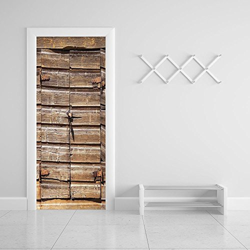 3d Door Wall Mural Wallpaper Stickers [ Rustic,Old big image