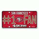 NFL San Francisco 49ers #1 Fan Metal License Plate Tag