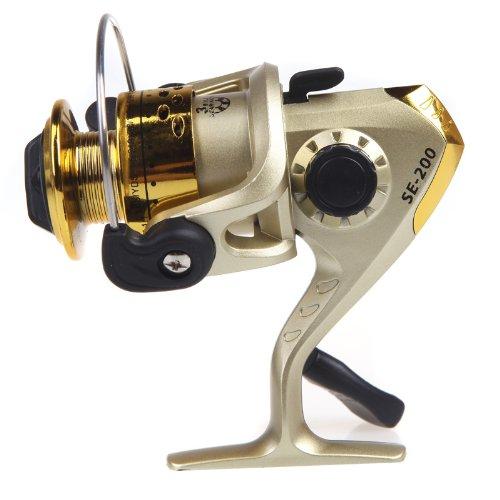 1Pc 3 BB Collapsible Fishing Reels 5.2: 1 Carp Fishing Spinning Reel Pesca Fishing Reel (Gold)