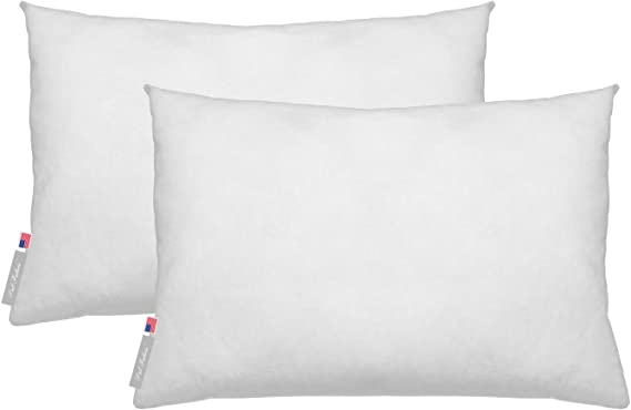 Amazon Com Outdoor Waterproof Square Sham Pillow Insert Made In Usa Set Of 2 14x18 Kitchen Dining