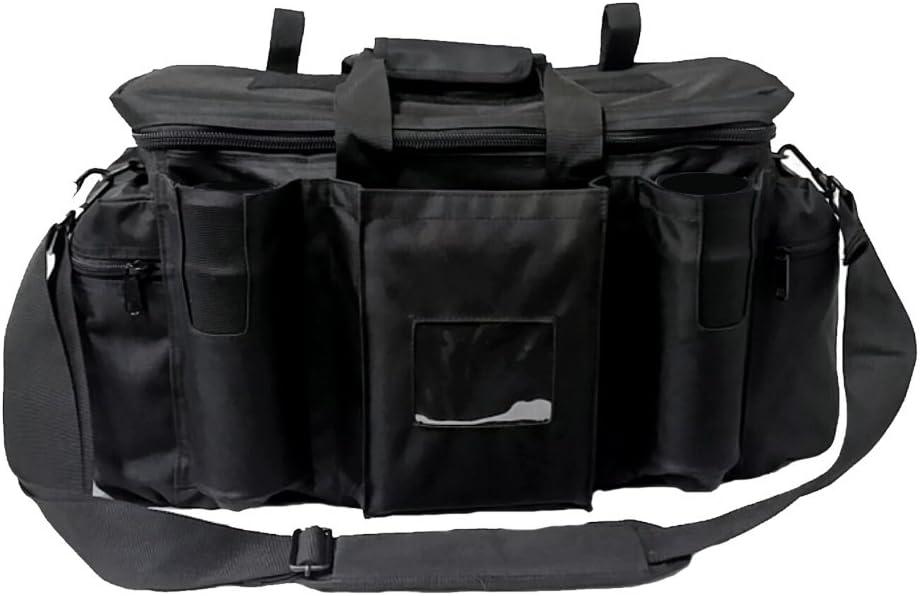 Armeeverkauf - Bolsa de policía con correa para el hombro y compartimentos, color negro
