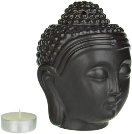 Piquaboo - Quemador de esencias (tamaño Grande), diseño de Cabeza de Buda: Amazon.es: Hogar