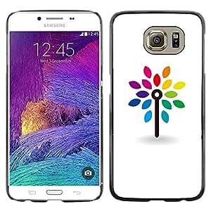"Pulsar Snap-on Series Teléfono Carcasa Funda Case Caso para Samsung Galaxy S6 , Limpie blanca minimalista arco iris"""