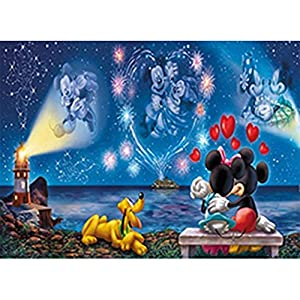 5D Diamond Painting Full Drill, Mickey Mouse Minnie Love Cartoon DIY Diamond Painting by Number Kits, Rhinestone Crystal…