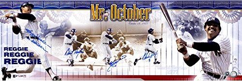 Reggie Jackson New York Yankees Autographed 1977 World Series Three Home Run Panoramic Photograph with