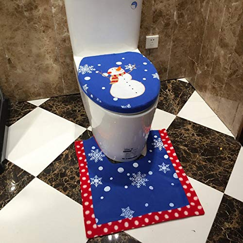 Air Snowman - Santa Claus Toilet Sets Christmas Home El Decorations Lovely Blue Snowman Doll Gifts - Tree Test Roll Gift Paper Sale Blue Snowman Ornament Drop Christmas Binder Ornaments -