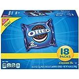 OREO Chocolate Sandwich Cookies, Original Flavor, 18 Snack Packs (36 Cookies Total)