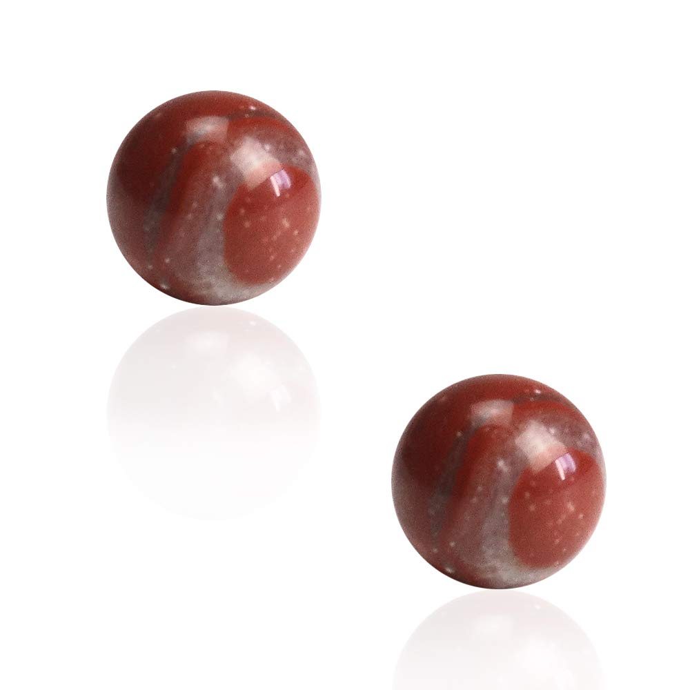 BAYUEBA 925 Sterling Silver Gemstone Ball Stud Earrings Mothers Day Gifts for Mom Wife 8mm 10mm