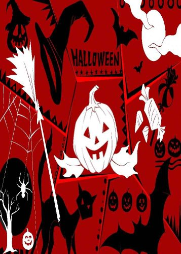 GladsBuy Lively Halloween 5' x 7' Digital Printed Photography Backdrop Halloween Theme Background YHA-338
