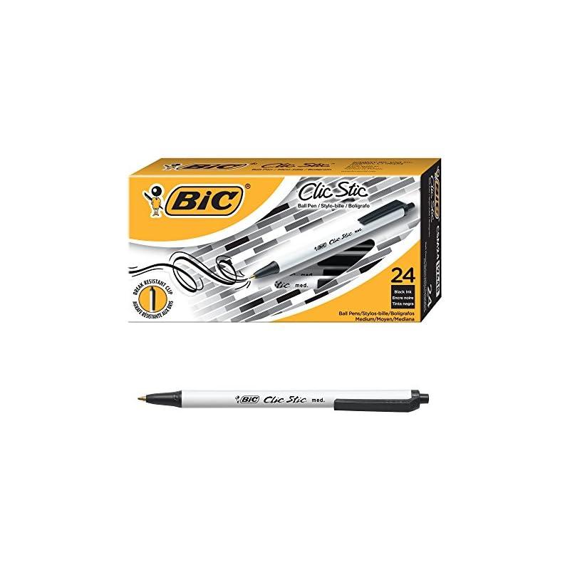 BIC Clic Stic Retractable Ball Pen, Medi