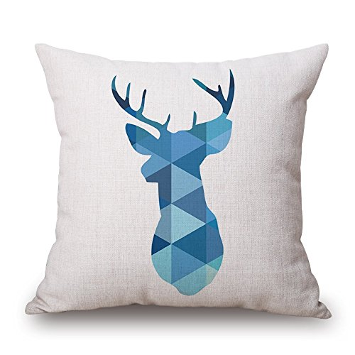 Slipcover Corner Wedge - Deer Pillow Covers ,best For Relatives,monther,play Room,lover,bedroom,her 20 X 20 Inches / 50 By 50 Cm(double Sides)