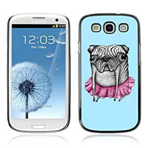 Designer Depo Hard Protection Case for Samsung Galaxy S3 / Abstract Pug Dog Painting