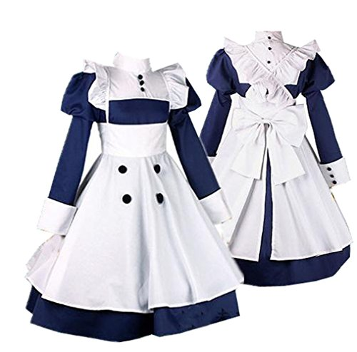 Mey Rin Cosplay Costume (Maid Mey-rin Costumes Black Cosplay Butler Party Dress M)