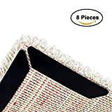 Kesoto Rug Grippers, Anti Curling and Non Slip Rug Pads, Premium Carpet Gripper with Renewable Gripper Tape - Ideal Rug Stopper for Kitchen and Bathroom (8 PCS)