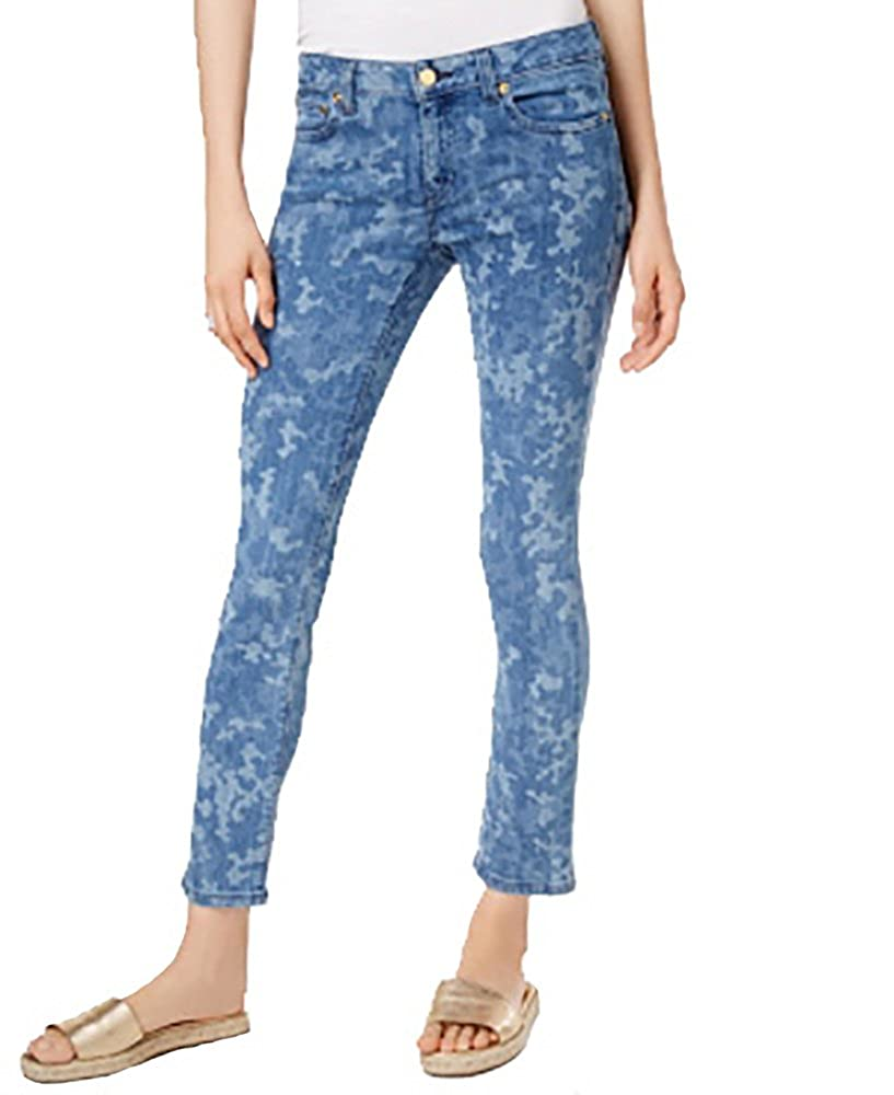 fcb380748d6c Michael Kors Izzy Printed Skinny Jeans (Indigo, 4) at Amazon Women's Jeans  store