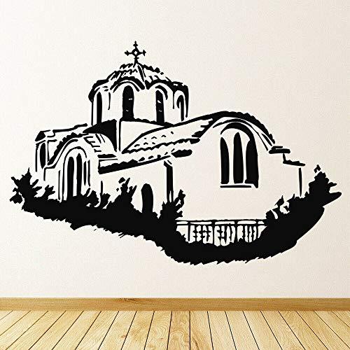 wZUN Calcomanias de Pared de la Iglesia Griega Arquitectura Religiosa Arte Mural Dormitorio Sala de Estar decoracion del hogar Pegatina de Vinilo 50X73 cm