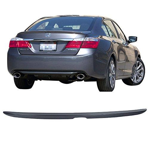 Wing Sedan Spoiler Rear - Pre-painted Trunk Spoiler Fits 2013-2016 Honda Accord | Factory Style ABS Painted #NH797M Modern Steel Metallic Trunk Spoiler Rear Tail Lip Deck Boot Wing By IKON MOTORSPORTS | 2014 2015