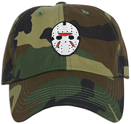 881bd4e3e0a Mask Embroidered Friday the 13th Hat Baseball Cap Horror Jason Dad ...