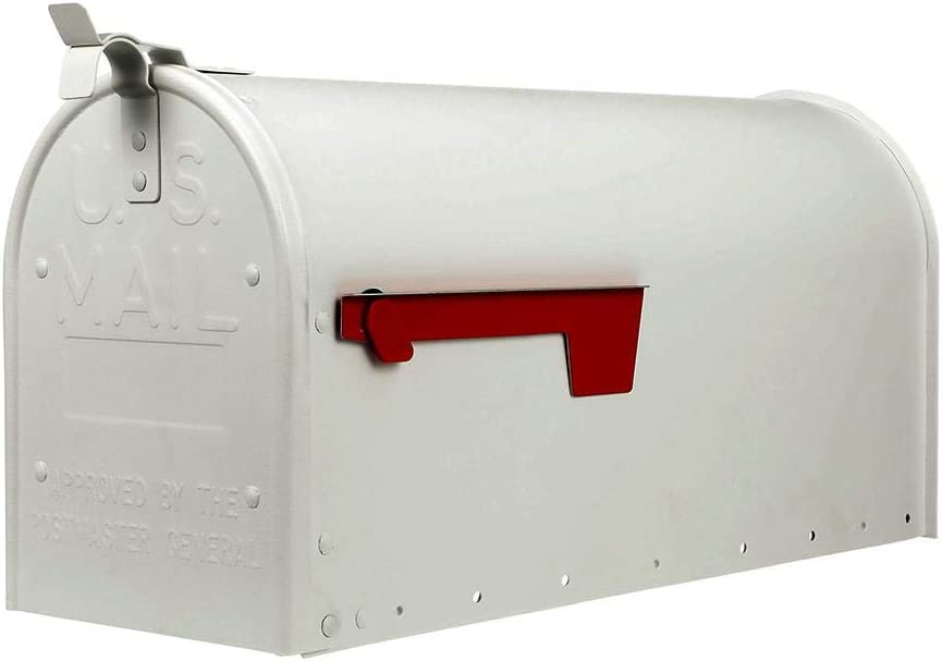 Gibraltar Mailboxes ADM16W01 Admiral Large Post-Mount Mailbox, White