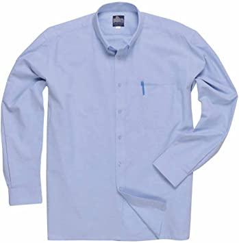 Portwest S107 - Oxford camiseta de manga larga, color Azul, talla ...
