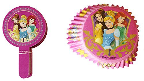 Disney Princess Cupcake baking cups and toppers (set of ()