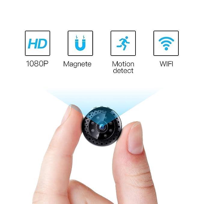 12 opinioni per FREDI HD1080P WIFI telecamera Spia videocamera nascosta Microcamera Wireless