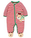 Little Me Baby Boy's Footie and Hat Pants, Reindeer Christmas red/White/Multi, 3 Months