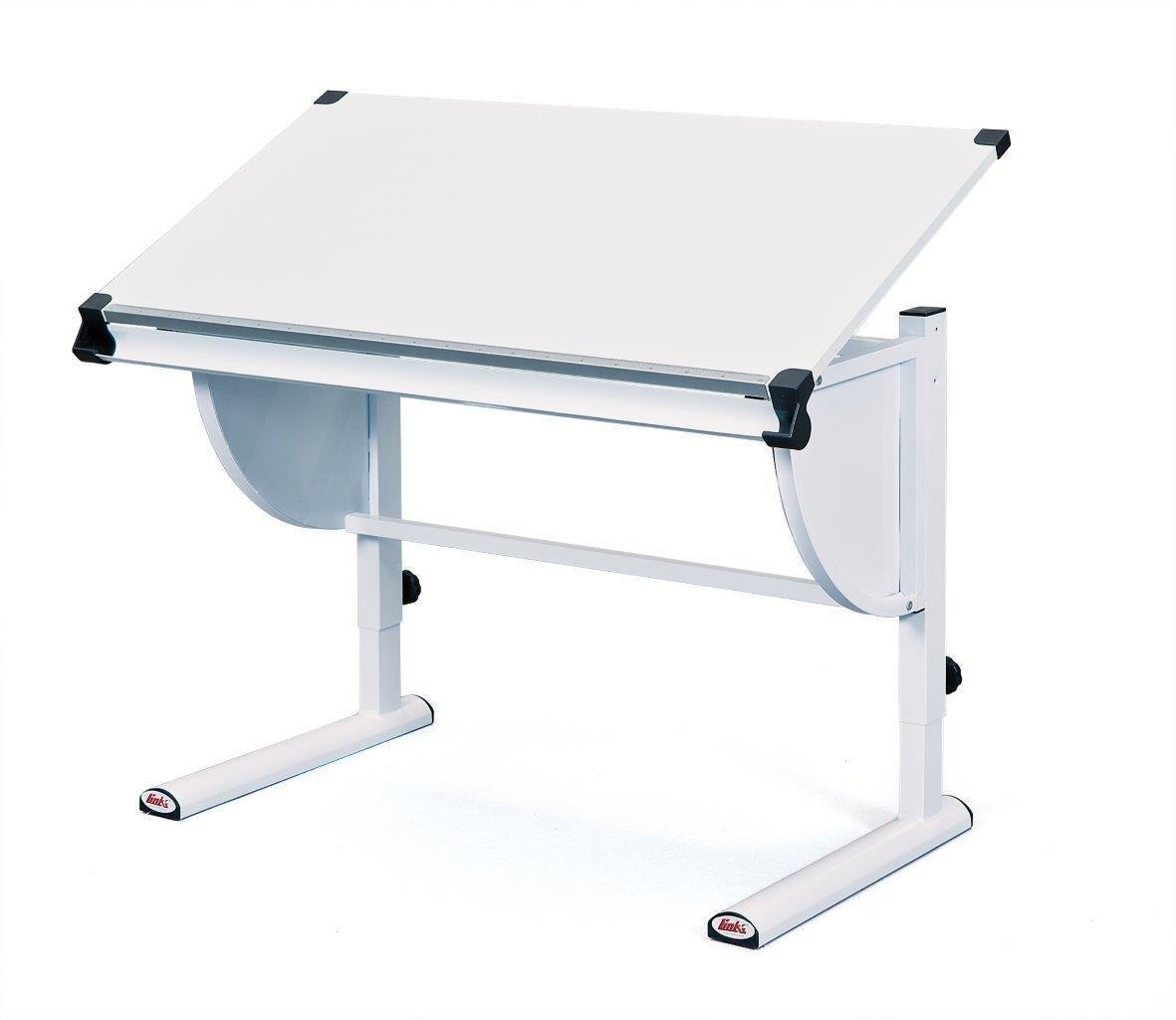 Esidra Galveston Scrittoio con Piano Inclinabile, Metallo, Bianco, 110x60x63 cm Links 51040450 F00011901062_BIANCO