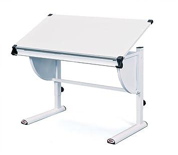 Inter Link Schülerschreibtisch Kinderschreibtisch Arbeitstisch Schreibtisch  MDF Weiss