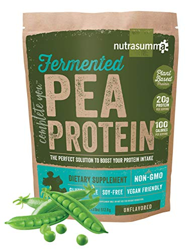 Nutrasumma Fermented Pea Protein, 1lb, Unflavored and Unsweetened (Protein Unflavored Quest)
