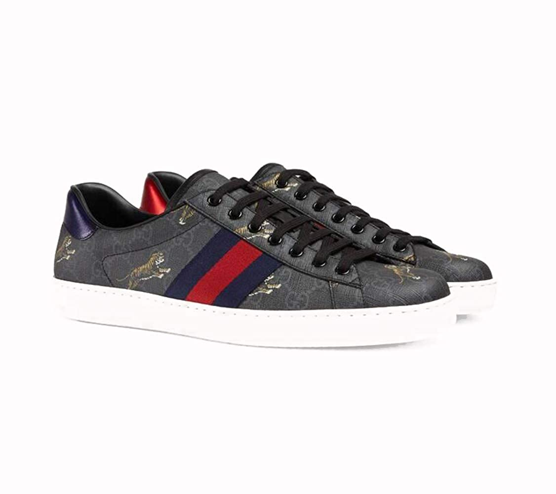 3d3a2c012 Amazon.com | Gucci Ace Series Men's Tiger Pattern high-Grade Artificial  Canvas Sneakers | Fashion Sneakers