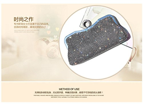 Women Bag Bag Color Hand Black Small Black Shoulder Bag Bag Luxury Bag Cosmetic Crossbody Lovely Rhinestone Evening Banquet Sparkling Rabbit 5zxWTOHcp