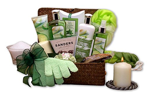 Gift for Her Cucumber & Melon Spa Gift Basket ()