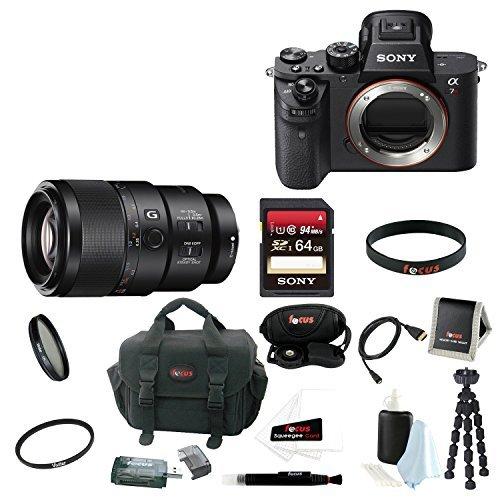 Sony Alpha a7RII Mirrorless Digital Camera (Body Only) + Sony SEL90M28G FE 90…