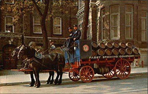 The Pabst Beer Wagon Breweriana Original Vintage Postcard from CardCow Vintage Postcards