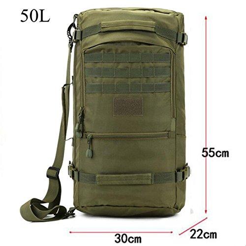 Mefly Die Heißen Männer Taschen Nylon Rucksack 60 L Militärischen Reisetaschen Mit Qualitativ Hochwertigen Rest Camouflage Dual-Use 17-Zoll Laptop Weiblichen Tasche Army green Cao3k