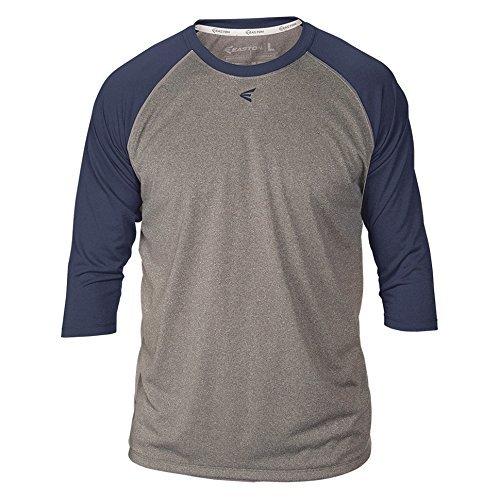 - Easton Youth 3/4 Sleeve Raglan Shirt Dark Grey/Navy L