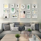 Photo wall living room sofa background wood combination mural green plant home accessories